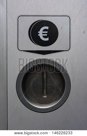 Metal Coin Slot Diagram Euro Closed Secure Payment Machine