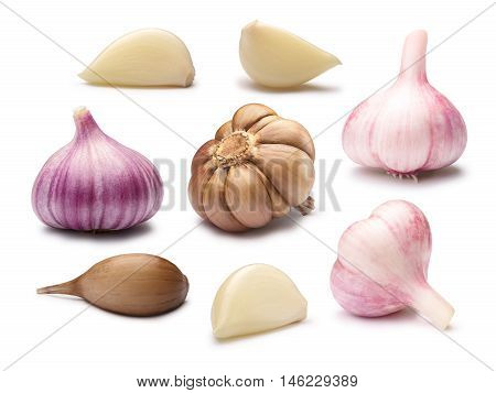 Set Of Different Garlic Cloves, Paths