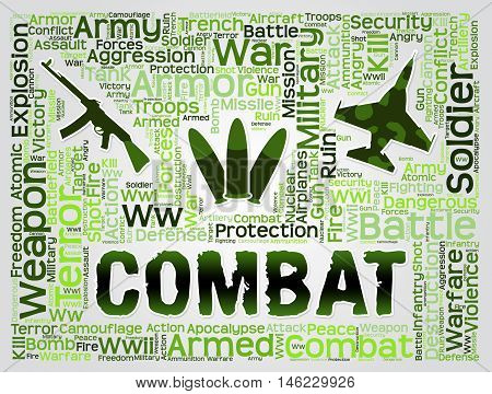 Combat Words Represents Battles Hostility And Conflicts