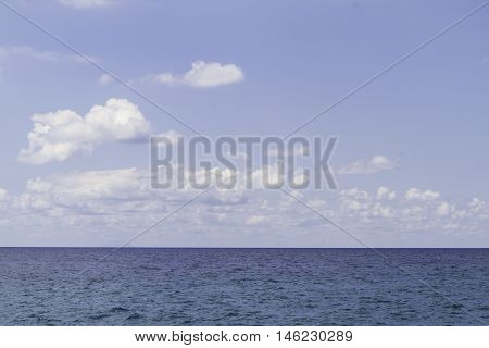Beautiful Blue Sky Panoramic Sea View