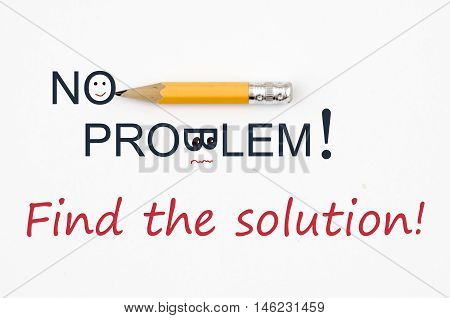 Find the solution! No problem! business Concept