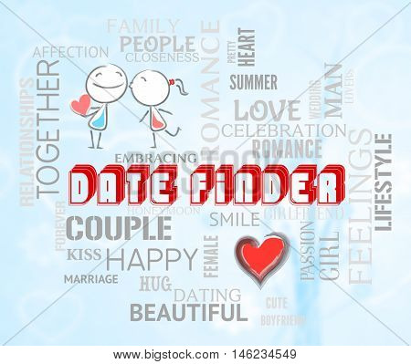 Date Finder Indicates Search For Love Online