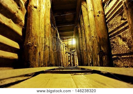 Inside the Sarajevo Tunnel built in 1993 to protect civilians during the siege of the city of Sarajevo by serbian army