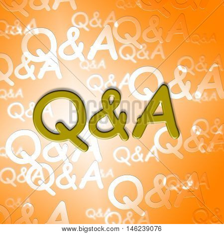 Q&a Words Shows Questions And Answers Inquiry