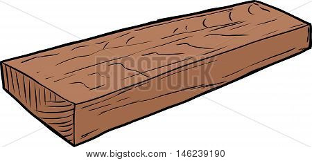 Illustration Of Single Cut Wood Piece