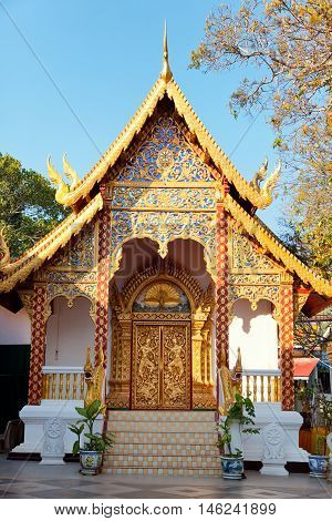 Wat Phrathat Doi Suthep is a Theravada Buddhist temple in Chiang Mai Province Thailand. The temple is often referred to as Doi Suthep