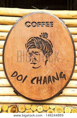 CHIANGRAI THAILAND - JULY 20 : Brand coffee shop