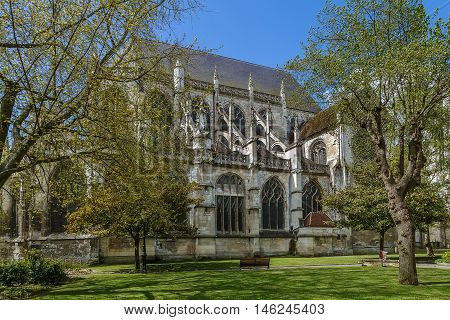 Saint Etienne Church represents a harmonious transition from the Romanesque to the Flamboyant Gothic style Beauvais France