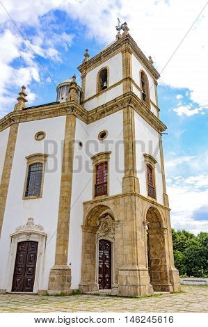 Our Lady of Glory church built in the 18th century and used by the imperial family when they moved from Portugal to Rio de Janeiro that became the capital of the empire poster