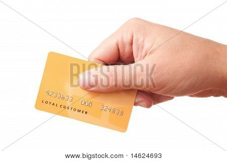 Hand Holding Unidentified Plastic Card