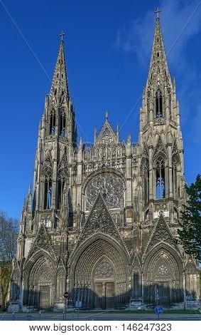 Saint-Ouen Abbey Church is a large Gothic Roman Catholic church in Rouen Normandy France