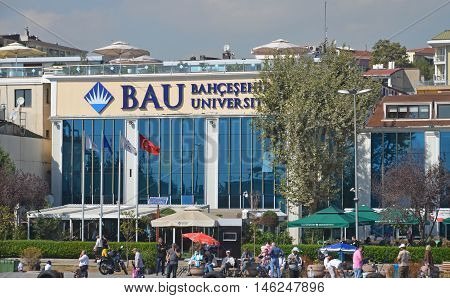 ISTANBUL, TURKEY OCTOBER 3 2013: Bahcesehir University (BAU) is a private educational institution in Turkey, located at the European side of Istanbul.
