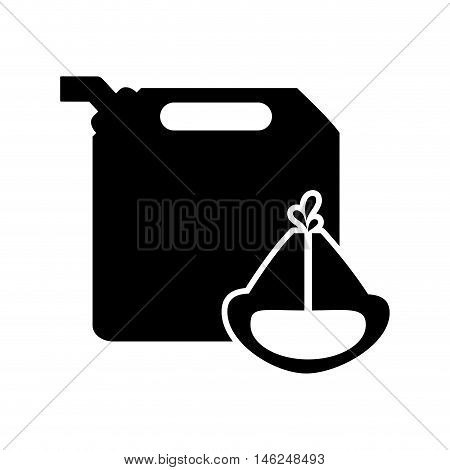 flat design fuel canister and oil reservoir icon vector illustration