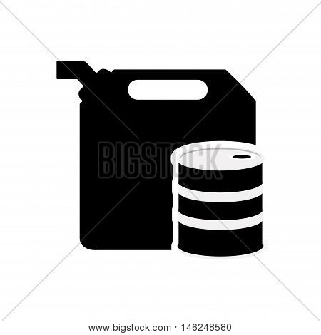 flat design fuel canister and oil tank icon vector illustration