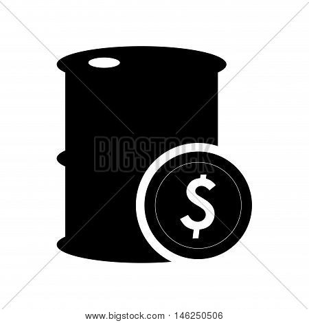 flat design oil barrel and icon vector illustration