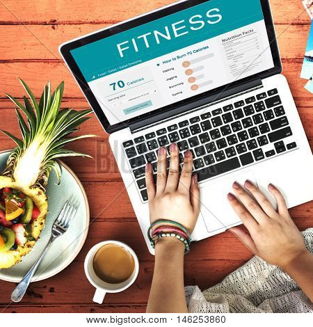 Health Fitness Nutrition Monitor Wellness Concept