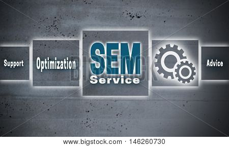 sem optimization support touchscreen concept background picture