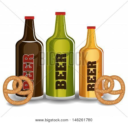 oktoberfest traditional food isolated vector illustration eps 10