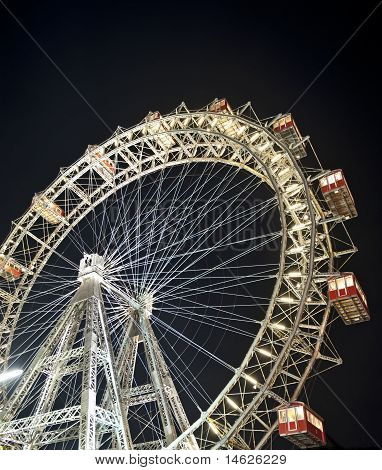 Vienna Ferris Wheel At Night