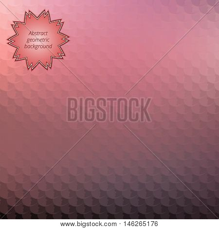Abstract geometrical wallpaper. Colorful decorative image. Graphic art. Vector illustration.