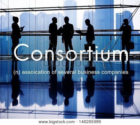 Consortium Alliance Combine Cooperative Group Concept