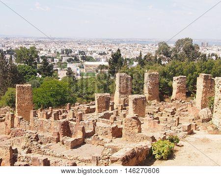 Ruins of Carthage in the territory of modern Tunisia