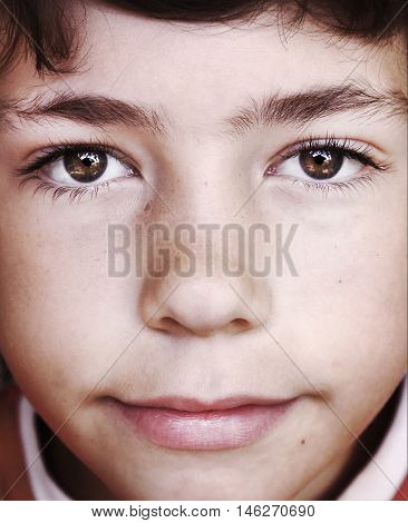 preteen european boy face close up portraitoy face close up portrait