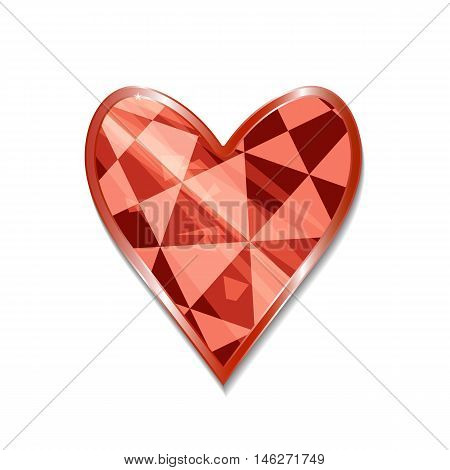 Suit of Hearts Icon. Vector illustration for graphic projects Parties Business Web. Icon Can be used for Game Web Mobile App Infographics. Game asset.
