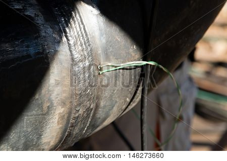 Sealing The Thermocouple Wire To The Surface