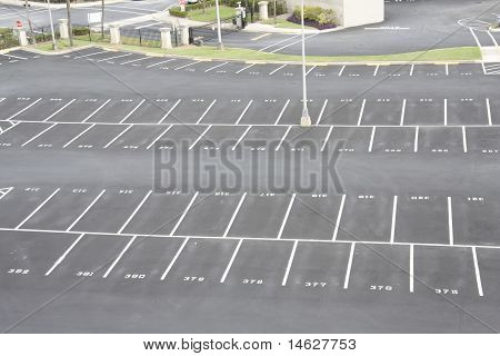 numbered parking lot