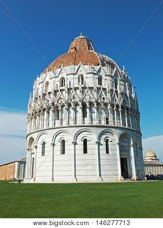 The Baptistry Of San Giovanni Of Pisa, Italy