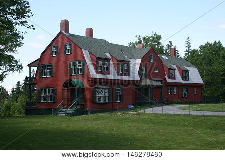 Historical FDR Summer Home at Campobello Island, New Brunswick, Canada