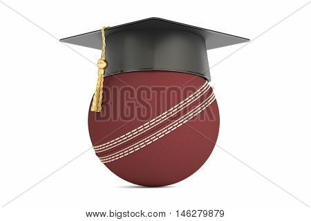 cricket sports education concept 3D rendering isolated on white background