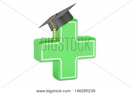 Pharmacy medicine education concept. 3D rendering isolated on white background