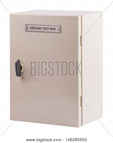 Electric control box isolated on white background