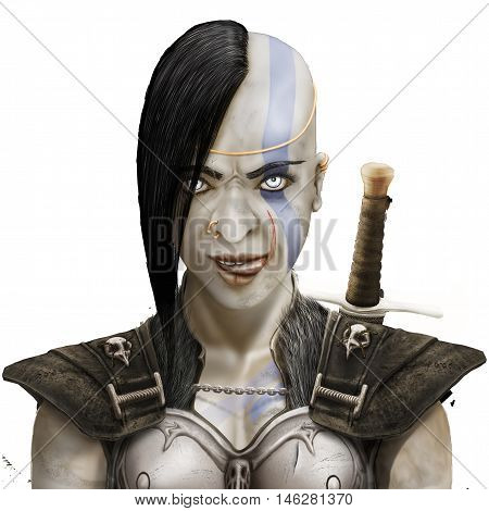 mystical Barbarian girl, the power of the barbarian