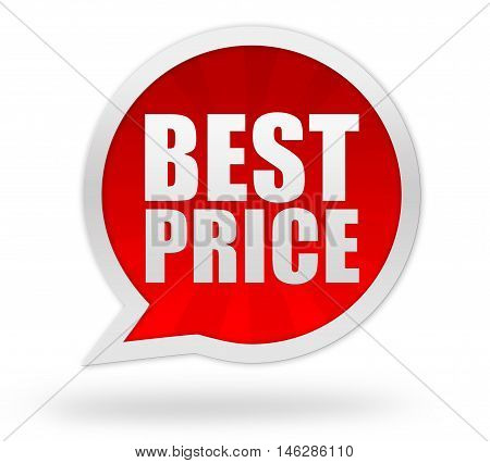 best price badge 3d illustration isolated on white background