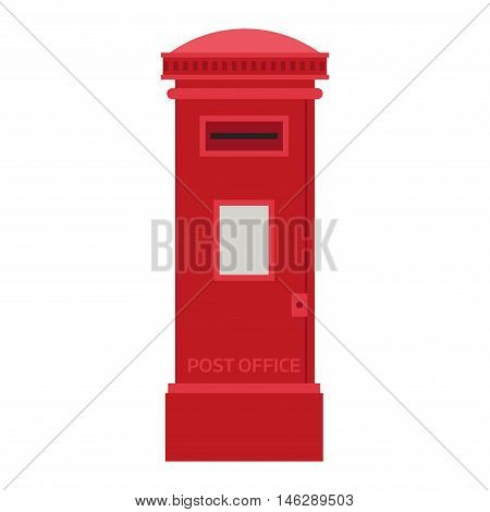 Beautiful rural curbside mailboxe vector illustration. Traditional communication empty postage post mail box. Letter message post mail box service correspondence.