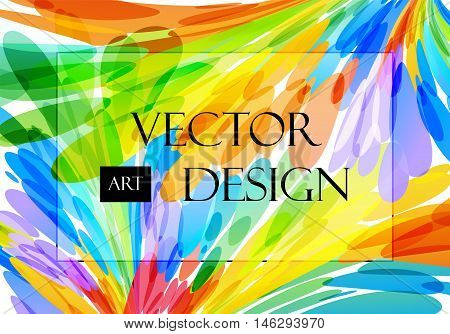 Multicolored abstract background, brush strokes, colorful pattern
