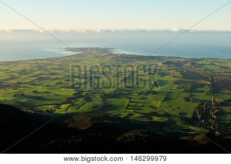 The Kaikoura Peninsula Viewed from Mount Fyffe  Southern Alps, New Zealand