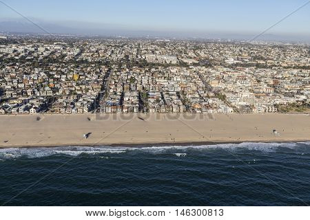 Hermosa Beach coastal community near Los Angeles in Southern California.
