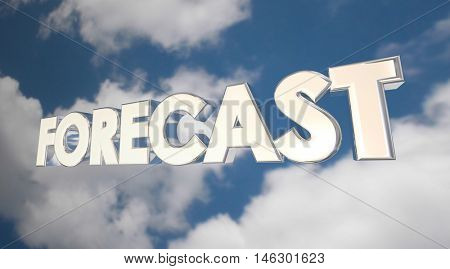 Forecast Clouds Sky Weather Financial Future Predition 3d Illustration