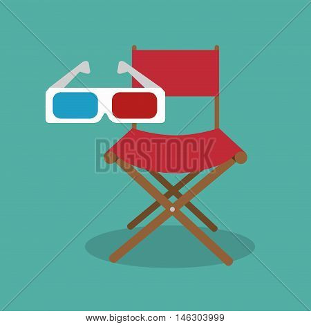 icon chair director movie design vector illustration eps 10