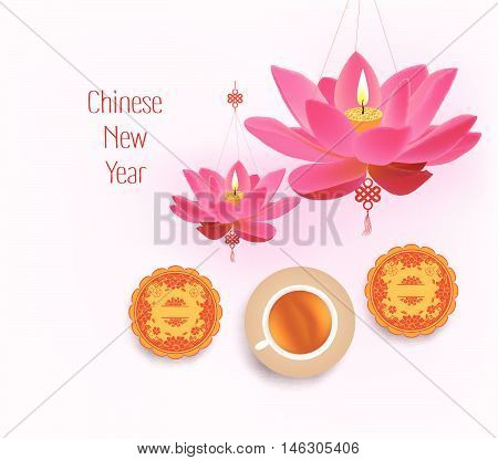 Oriental Chinese New Year pattern background design
