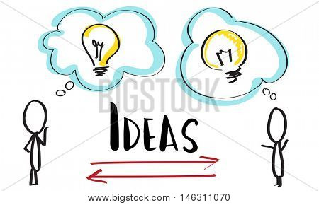 Creativity Ideas Brainstorm Communication Light Bulb Concept
