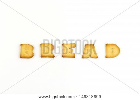 Bread wording by a b c biscuit