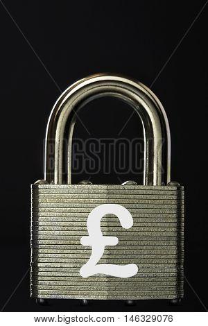 Padlock with GBP symbol