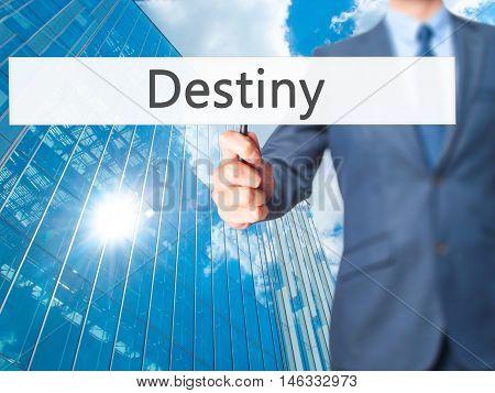 Destiny - Business Man Showing Sign