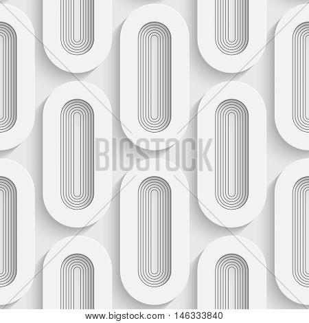 Seamless Ellipse Pattern. Vector Soft Background. Regular White Texture