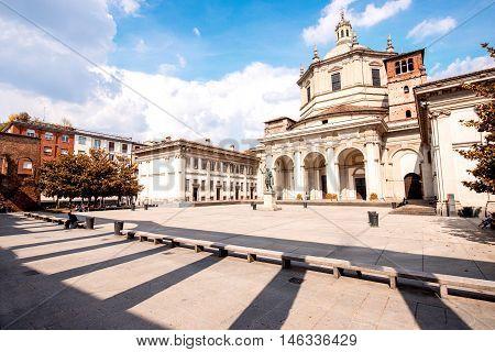 San Lorenzo Maggiore basilica in Milan city in Italy